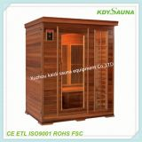 European design Deluxe comfortable sauna room temperature sensors used in sauna for 2 persons