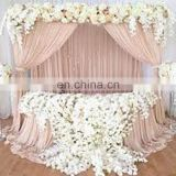 TS092B round silk chiffon indian wedding table skirts decoration