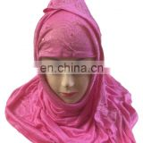Casual Wear Golden Stone Work Headscarf / Latest Muslim Wear Burkha Niqab Design / Daily Wear Hijab / Facewrap Hosiery Cotton