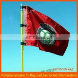 top quality custom embroidered golf flag