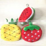 Fruit Shape Plush Key Coin Wallet Purse Cosmetic Makeup Pouch Pencil Bag