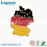 Promotional Souvenir Germany Map Shaped Custom Pin Badge