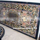 Black Marble Stone Inlay Dining Table Top