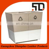 OEM/ODM Supplier Qualitied Leather Wholesale Waste Paper Bin
