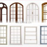 Australia standard clear float glass upvc profile decorative fixed/sliding window grill design round