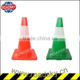 Highway Warning Tall PVC Green Traffic Cone