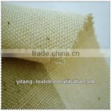 Yarn dyed check linen cotton blended fabric