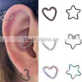 316l surgical stainless steel body piercing jewelry earring studs star heart styles cheap price