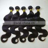 2015 Hair Extension Body Wave Style Unprocessed Human Hair Weave Mixed Length 8-30 Natural Black brazilian body wave