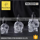 30ml 60ml 120ml bottle skull head glass eliquid dropper bottle with glass pipette                                                                         Quality Choice