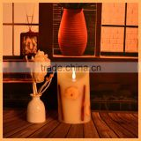 Flameless Ivory Pillar Candles Remote-Vanilla Scented candle wax, birthday soy candle wax/
