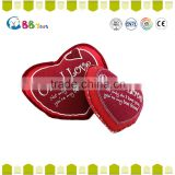 top selling products 2015 ICTI stuffed plush toy red love heart kids toys