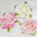 Bright pink simulation edge rose 8 cm flower heads Artificial silk cloth DIY wedding flowers Direct selling small wholesale