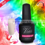 100 classical colors , 3 in 1 formulate with no base & top coat , one step gel nail polish , gel uv colorati