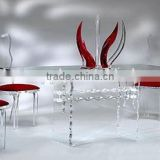Rectangle wedding table and chair acrylic furniture set made in china