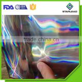 17mic 18mic seamless holographic metalized film,seamless bopp laser film,seamless rainbow film