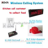Kitchen Call Waiter System CE passed 433mhz restaurant call system digital electronic restaurant wireless sound system