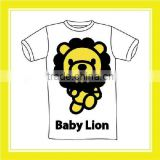 2016 Summer Product Bros Baby Lion Run White Short Sleeve T-shirt