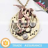 2015 Europe and USA New Fashion Snake Chain Exquisite Antique Gold Layered Pendant Necklace For Men