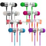 wooden earphone 2016 In-Ear Earphone 3.5mm Stereo Headphone Metal Earbud