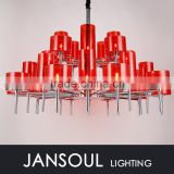 JANSOUL 2015 luxury modern red glass pendent light
