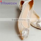 Customized handmade rhinestone flat shoes for ladies