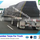 "Vinyl Coated Lumber Tarps 24' x 27' with 8 Ft Drops, 8' x 8' Tail and 8"" Rain Flaps"