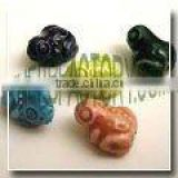 One Color Shape Ceramic Beads-Frogs