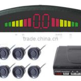 Parking Sensor with 8 Sensors ,Numeral and color LED display ,Alarm by three-step Bibi sound