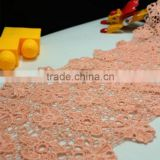 Autumn Winter Cotton Fabric Lace Water-soluable DIY Crochet Guipure Flower Lace Trimming