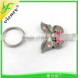 custom metal butterfly whistle keychain
