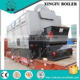 Cotton seed hulls fired hot water boiler