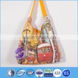 Digital printed custom shopping women's canvas tote bag                                                                                                         Supplier's Choice
