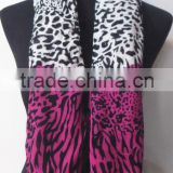 Leopard Fashion Rayon Printed Woven Scarf