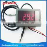 "Hot selling 0.56"" F/C 12V 24V DC Red LED Digital Car Meter Thermometer hygrometer -55-125 degree DS18B20 waterproof Sensor"