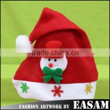 Christmas gift promotion xmas decoration luxury christmas plush santa hat