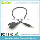 2 Photos Best Sync 3.5mm Male AUX Audio Plug Jack to USB 2.0 Female Converter Cable Cord