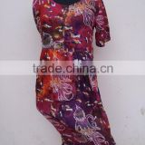 Latest design octopus fish print 100% viscose summer beaches evening dresses for women
