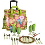 2014 New Cheap Floral Picnic Cooler with Wheels for 4, Rolling Picnic Bag, Outdoor Backpack,Camping backpack, Bag