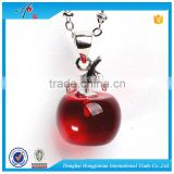 Novelty crystal craft merry christmas apple with tree