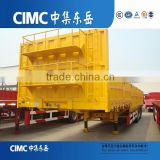 CIMC 2 Axles 35Tons Flat Deck Sidewall Trailer with truck head tractor