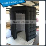 Black octagon inflatable photo booth led inflatable photobooth enclosure for rental