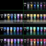 Hot Selling Electronic cigarette Drip tips 510 drip tips deep laser engraving
