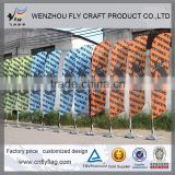 Multifunctional outdoor banner stands displays flag pole