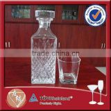 Wholesale 800ml high flint square glass novelty decanter
