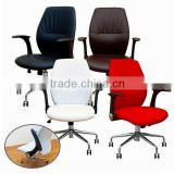 Embossed PVC office chair leather material same with real leather design, good use for sofa and chair cover