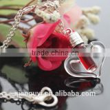 2016 Unique Heart Blood Vial Earrings 6MM Glass Vials Dexter blood red bottle for DIY necklace bracelet earrings