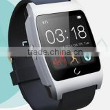 Multi-language UX Bluetooth Smart Wrist Watch Phone Mate For Android Samsung Phone white