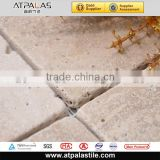 Classic white travertine travertine mosaic, outdoor stone wall tile designs for backsplash, bathroom wall EMC113