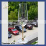 Wholesale Exclusive elegant handmade customized mason jar shot glass wine glass with gold rim